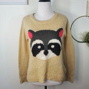 Raccoon Sweater Size XS